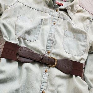 Accessories - Dark Brown Fashion Belt